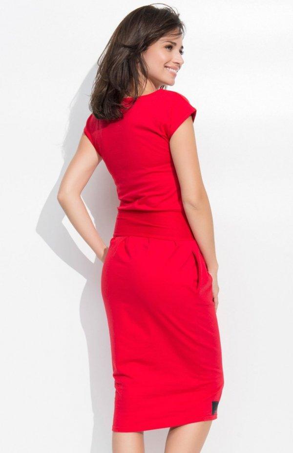 Numinou NU44 sukienka czerwona tył