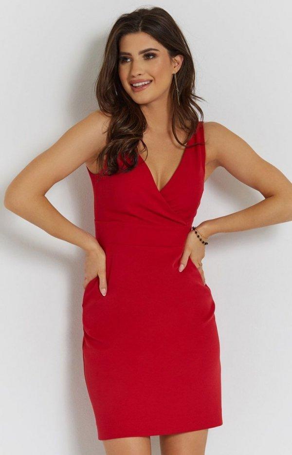 Seksowna czerwona sukienka Paola-2