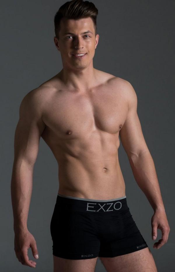 EXZO bokserki męskie mikrofibra czarne