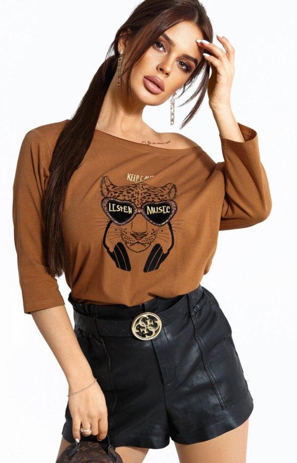 Kobieca bluzka z tygrysem 102-10