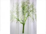 Zasłona prysznicowa tekstylna Bisk TREE 04439