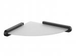 Narożna półka łazienkowa Bisk Futura Black 02956 z uchwytem
