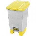 Kosz na odpady żółty otwierany pedałem 70 l z tworzywa KP70-Ż