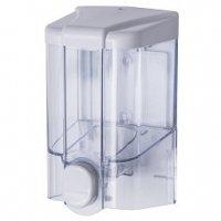 Dozownik (dystrybutor) mydła w płynie Faneco JET (S500PGWT) 0,5 litra z tworzywa ABS,transparentny