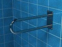 Poręcz stała łukowa dla niepełnosprawnych PSP/PSM 660S 60 cm stal nierdzewna