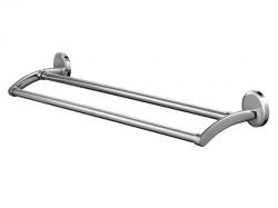 Podwójny wieszak kąpielowy Bisk Sensation 03093 metalowy 610 mm