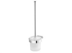 Szczotka WC Bisk Natura 04308 z pojemnikiem szklanym w chromowanym uchwycie metalowym