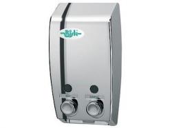 Dozownik (dystrybutor) mydła w płynie Bisk Masterline (00175) podwójny 2 x 0,4 litra z tworzywa ABS