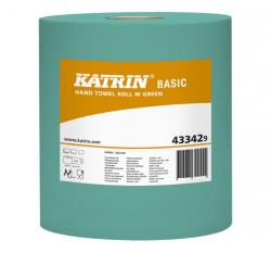 Ręczniki papierowe w roli mini Katrin Basic M Green Bis 43342 Ø 190 mm 1-warstwowe zielone