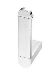 Chromowany uchwyt WC Bisk Futura Silver 02989 metalowy na zapasowy papier toaletowy w rolce