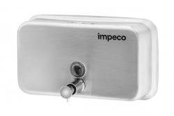 Dozownik na mydło w płynie Impeco, poziomy, stalowy 1 litr
