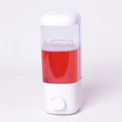 Dozownik mydła w płynie 380 ml biały naścienny 08302