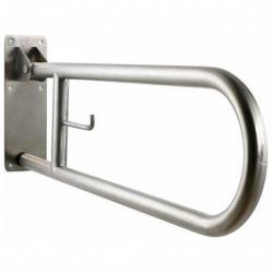 Poręcz uchylna łukowa dla niepełnosprawnych Faneco S32UUWC7.5P SN P 75 cm stal nierdzewna