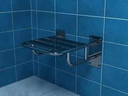 Krzesełko prysznicowe uchylne z podporami Makoinstal PSP 501