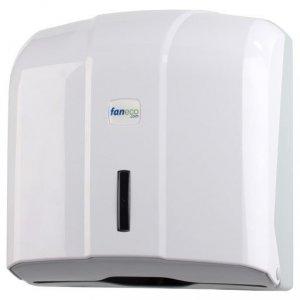Pojemnik (podajnik) Faneco ZZ POP (P400PG-WG) na ręczniki papierowe w listkach, ścienny, plastikowy ABS