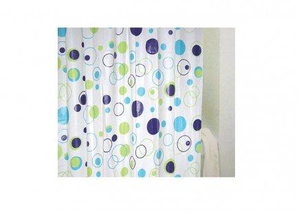 Zasłona prysznicowa Bisk PEVA MEANDER 03563 180x200 cm