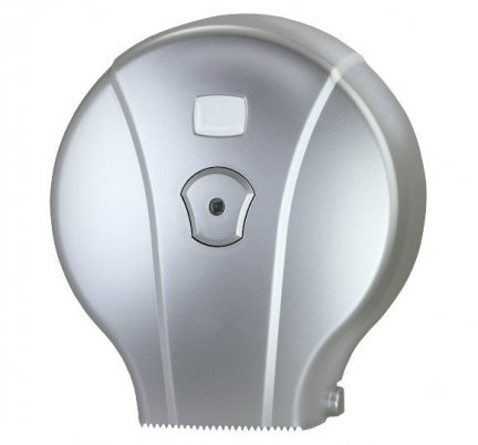 Pojemnik (podajnik) MJ1M na papier toaletowy w rolkach, ścienny, plastikowy ABS,srebrny