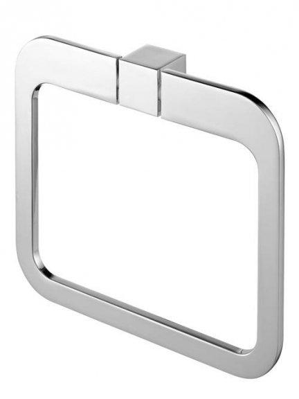 Metalowy wieszak owalny Bisk Futura Silver 02996 chromowany