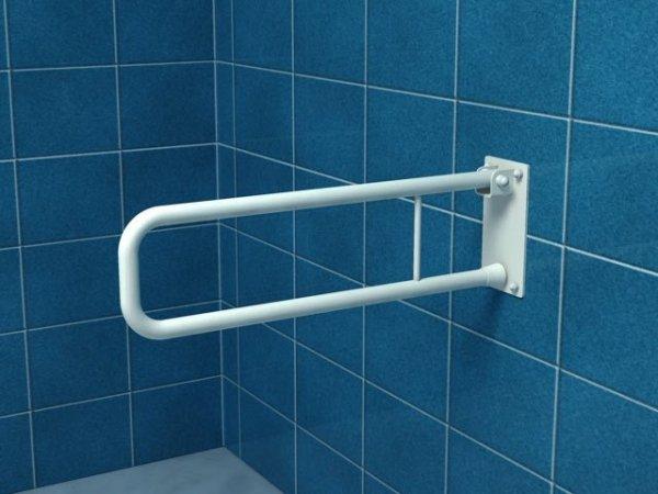 Poręcz uchylna łukowa dla niepełnosprawnych UR6 60 cm stal węglowa emaliowana