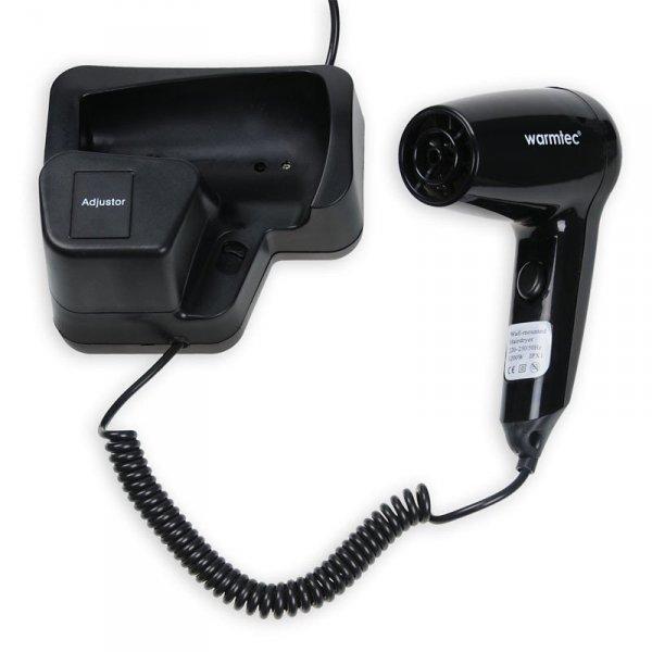 Hotelowa suszarka do włosów Warmtec M737-B 1200W z uchwytem ściennym
