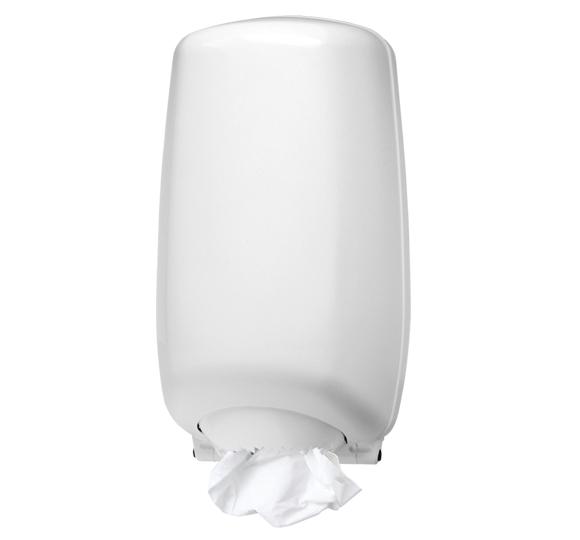 Pojemnik (podajnik) U-RO/2 na ręczniki papierowe w roli z wyciąganą tuleją, wykonany z tworzywa sztucznego ABS