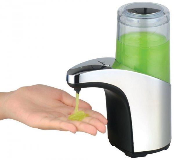 Automatyczny dozownik mydła stojący chromowany 300 ml