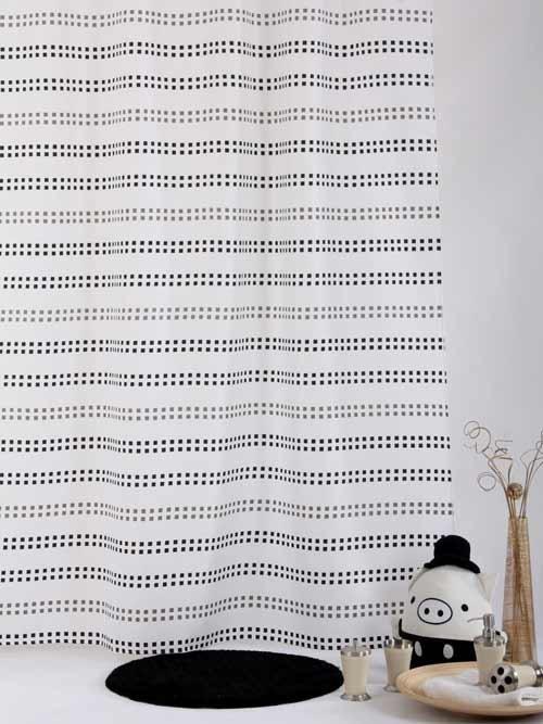 Zasłona prysznicowa tekstylna Bisk SQUARE 01585