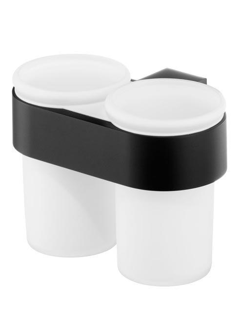 Kubki szklane Bisk Futura Black 02960 z uchwytem