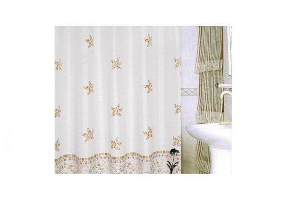 Zasłona prysznicowa tekstylna Bisk KORNATI 08012 beżowa