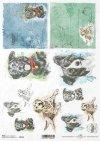 Pascua decoupage papel, granja feliz, perros*Ostern Decoupagepapier, glücklicher Bauernhof, Hunde*Пасхальная бумага для декупажа, счастливая ферма, собаки