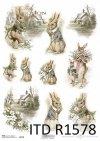 Wielkanoc, zajączki Vintage, wiosenne wiejskie widoczki*Easter, Vintage bunnies, spring rural vistas