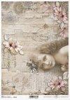 Papel de decoupage vintage, niña, flores*Урожай декупаж бумаги, девушка, цветы*Vintage Decoupage Papier, Mädchen, Blumen