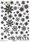 Papier ryżowy gwiazdki, śnieżynki*Rice paper stars, snowflakes