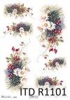 Papier decoupage kwiaty-papier ryżowy kwiaty*Decoupage paper flowers-rice paper flowers