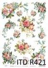Papier ryżowy do decoupage - niezapominajka, róża ogrodowa, bukiety z polnych kwiatów R0421