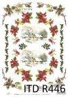 Święta, zima, śnieg, gwiazda betlejemska, ostrokrzew, R446