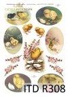 Wielkanoc, kurczaki, kurczaczki, kwiatki, wiosna, jajka, pisanki, R308