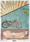 stare motocykle, podróże po Stanach, USA, droga 66, podróż, stare, motocykl, motor, mapa, retro