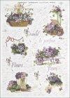 flower, flowers, violet, violets, bouquet, bouquets, wheelbarrow, wheelbarrows, flower basket, baskets, R356