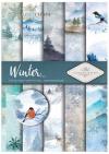 Papiery do scrapbookingu w zestawach - zima*Papers for scrapbooking in sets - winter