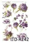 fiołek, fiołki, kwiaty, kwiatki, bukiety fiołków w stylu retro, kosze pełne kwiatów, fiołkowy, R242