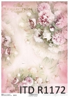 papier decoupage Peonie, kwiaty*Paper decoupage peonies, flowers