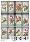 retro, vintage, kwiat, kwiaty, kwiatek, kwiatki, listki, liście, płatki kwiatów, róża, róże, róży, tagi, R541