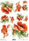 decoupage paper poppies*amapolas de papel decoupage*decoupage papír mák