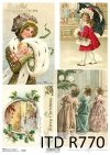 świąteczne dekoracje, Boże Narodzenie, zima, retro, choinka, R770