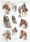 woman, ladies riding dress, horses, horses' heads