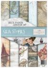 Zestaw kreatywny na papierze ryżowym Opowieść morska * Creative set on rice paper Sea Stories