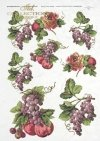 ITD Collection, decoupage, scrapbooking, mixed media, fruit, grape, apple