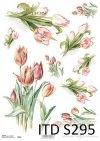 papier decoupage tulipany*decoupage paper tulips