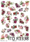 papier ryżowy decoupage kwiaty, róże*rice paper decoupage flowers, roses